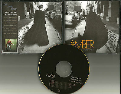AMBER One More Night w/ RARE RADIO REMIX USA PROMO DJ CD Single 1997