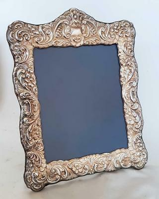 "BEAUTIFUL HUGE 15"" X 11 1/2"" ORNATE SILVER PLATED PICTURE PHOTO FRAME a"