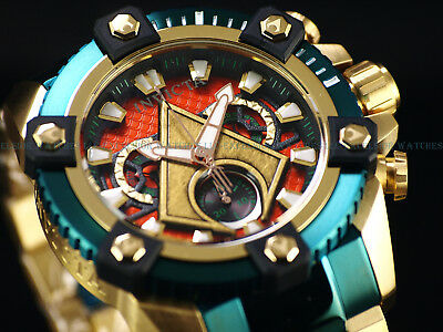 New Invicta DC Comics Aquaman Grand 63mm Arsenal Ltd Ed. Swiss Chrono TTIP Watch
