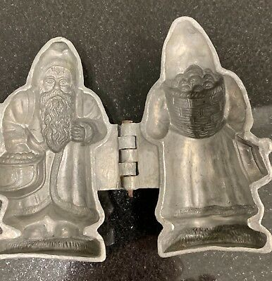 Santa Claus holding sack Antique pewter ice cream mold Krauss (s.and Co.) 427
