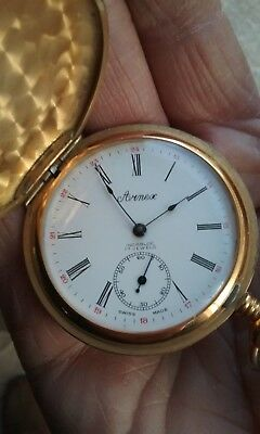 Arnex 17 Jewels Hand Winding Incabloc Pocket Watch Swiss Made
