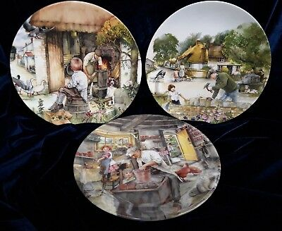 3 Royal Doulton Collectors Plates From The 'Old Country Crafts' Series (A2NOV)