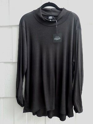 The Fabulous Bobeau Nordstrom Black Swing Hem Lagenlook Tunic 1X