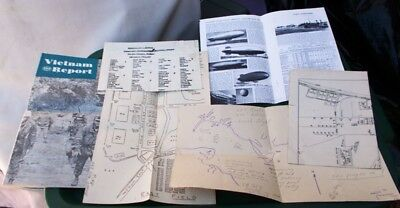 Vintage US Naval Air Station Map, Test Bomb Map?, & several more old documents