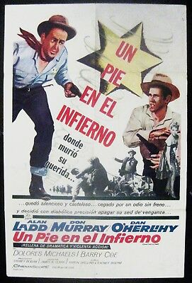 One Foot In Hell 1960 Alan Ladd Don Murray Original Spanish /US One Sheet Poster
