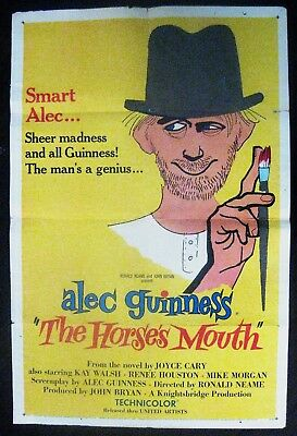 The Horse's Mouth 1959 Alec Guinness Kay Walsh Original US One Sheet Poster