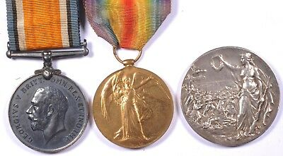 WWI First World War British Medal BWM Pair + shooting Robert Knaggs West Yorks