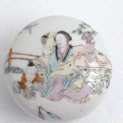 Late 19Th / Early 20Th Century Chinese Qianjiang Porcelain Paste Pot