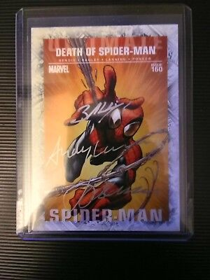 Autographed Death of Spiderman trading card
