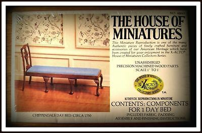 Rare Dollhouse House Of Miniature Day Bed Furniture Kit, Antique Replica