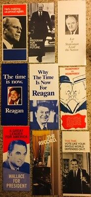 Nice Lot of 17 Political Campaign Brochures
