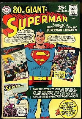 Superman #183 F/VF   80 Page Giant