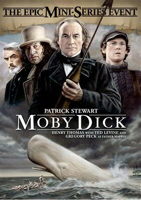 MOBY DICK THE EPIC MINISERIES EVENT New DVD 1998 Patrick Stewart