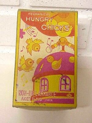 Vintage Mechanical Hungry Chicks, Acetiloid, JAPAN, BOX ONLY