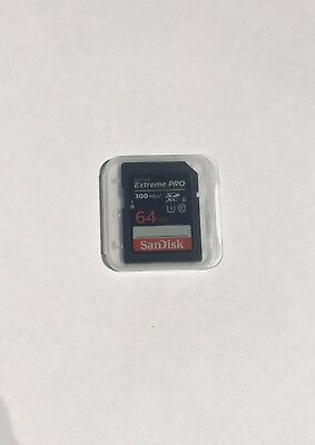 SanDisk 64GB Extreme Pro SDXC Memory Card UHS-II 300MB/s U3 For HD 4K Video