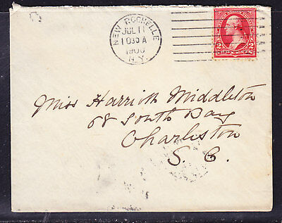 USA 1900  - 2c New Rochelle - Charleston   Cover