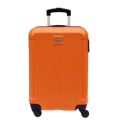A849 Traveling Universal Wheel Orange Pulling Suitcase Luggage 20 Inches W