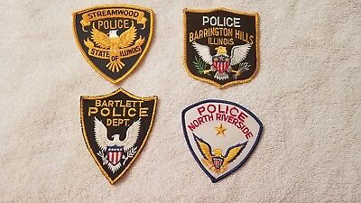 Lot 4 Illinos Police Department Patches