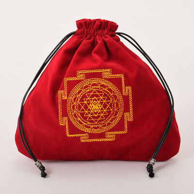 Tarot Divination Bag Case Drawstring Bag Tarot Cards Wicca Pagan Storage Red