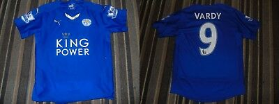 2768b5ae99c Leicester City Jamie Vardy kids youths football soccer shirt jersey shorts  kit