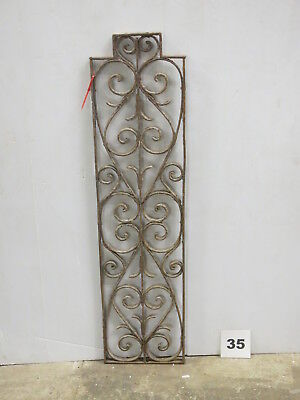 Antique Egyptian Architectural Wrought Iron Panel Grate (E-35)