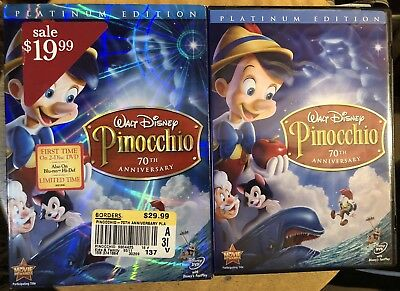 Disney Pinocchio 70 Anniversary ~ Platinum Edition ~ 2-Disc DVD Set