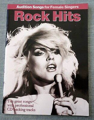 ROCK Hits: Audition Songs for Female Singers. Sheet Music Book. Backing on CD