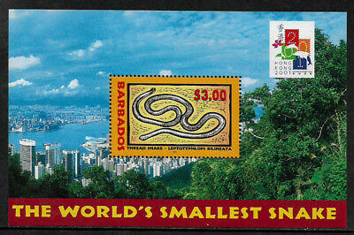 Barbados #1004 MNH S/Sheet - Hong Kong 2001 Stamp Expo