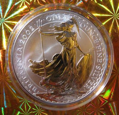 "2002 1 OZ Silver ""BRITANNIA"" UK/Great Britain Lady Britannia Harder year to find"