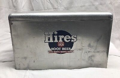 1950s Hires Root Beer Aluminum Cooler Ice Chest with tray inside