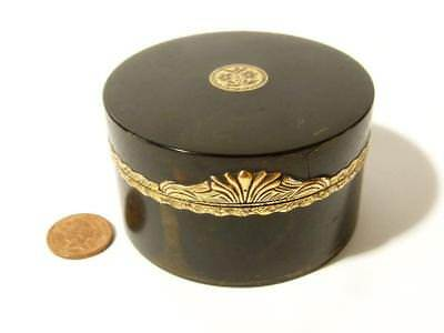 c1825 Georgian Rolled Gold Mounted Snuff Box Engraved Floral Decoration *