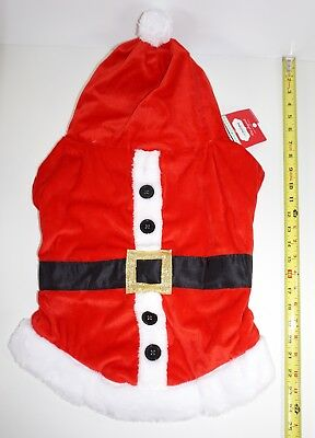 New Pet Holiday Christmas Santa Hooded Jacket Dog Costume - Size Xtra Large XL