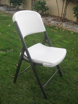 Lifetime Commercial Grade White Indoor/outdoor Contoured Folding Chair