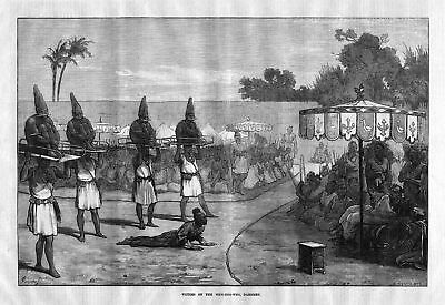 1873 Victims of the Mem-Hoo-Who, Dahomey. / Africa / Afrika Opfer antique print