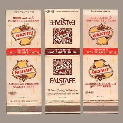 Vintage Ad Matchbook Covers - FALSTAFF BREWING CO America's Premium Quality Beer