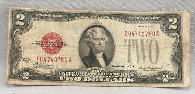 1928-D $2 UNITED STATES Legal Tender RED SEAL Note! NO RESERVE!