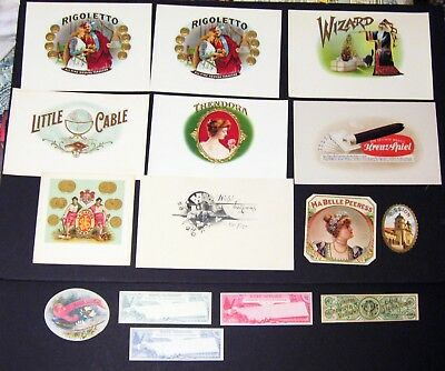 Lot of 15 Cigar Box Labels Mint Never Used - Dealers Lot