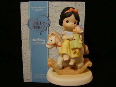 PRECIOUS MOMENTS-DISNEY-SNOW WHITE And Dopey-Riding Off To A