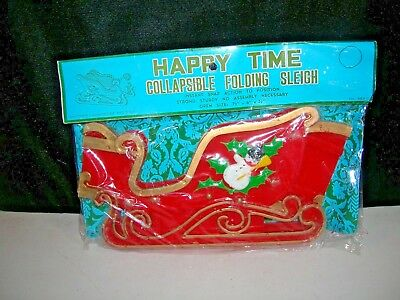 Vintage Christmas Decoration Collapsible Folding Sleigh