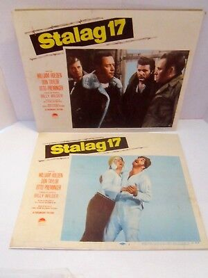 "Stalag 17 Otto Preminger cult movie poster Lot of 2 print. Holden. 11""x14"". 1953"
