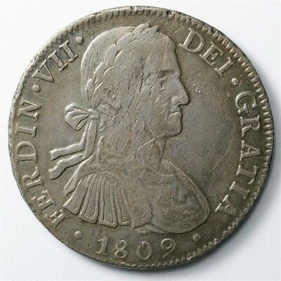1809-TH Mexico 8 Reales - KM#110 - Large Spanish Colony Silver Coin