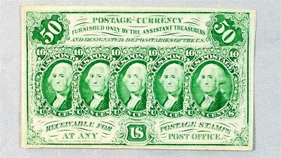 1st Issue 50 Cent US Fractional (Postage Currency) - FR.1312 - ABC Monogram