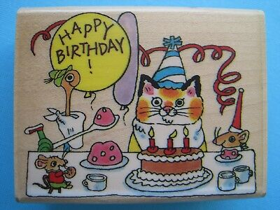 BUSY TOWN BIRTHDAY PARTY - Penny Black Rubber Stamp - RICHARD SCARRY Lowly Worm
