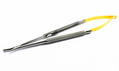 TC Castroviejo Needle Holder 5.5 Curved Plier Dental Surgical Instrument