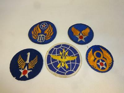 40's Wwii Usaaf Us Army Air Forces Embroidered & Felt Patches With Cloth Backing