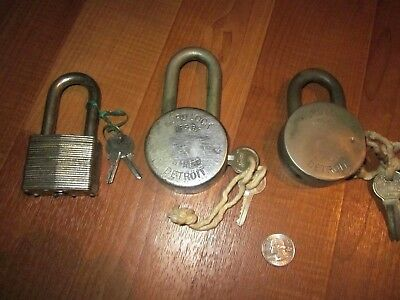 Vintage Hurd Padlocks, Diamond Padlock, Lot - Four Padlocks Total