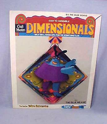 VERY RARE Craft Master D-5 BLUE MEANIE DIMENSIONALS YELLOW SUBMARINE NOS FS 1968