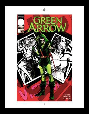 Mike Grell Green Arrow #56 Rare Production Art Cover