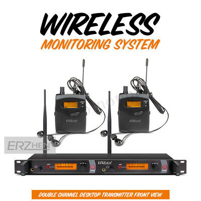 Professional UHF 2CH Wireless Stage Monitor System Receiver Transmitter