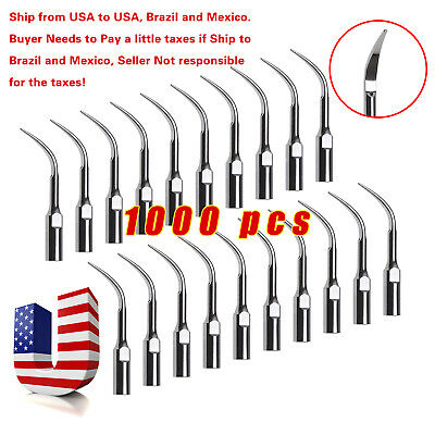 1000pcs Dental Ultrasonic Scaler Tips Scaling GD4 for DTE SATELEC SKYSEA SANDENT
